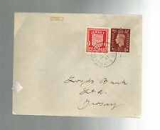 1941 Jersey Channel Islands Occupation Cover to Guernsey Mixed Franking