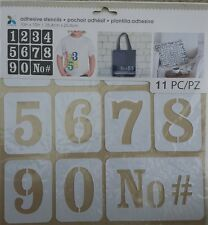 "Momenta 28753 Adhesive Stencils 10"" x 10""-1"" Numbers"