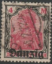 Historic Danzig stamp #14, well centered cancels