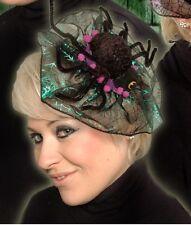 Spider Fascinator Hair Clip Head Dress Halloween Fancy Dress Costume Accessory