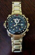 Daniel Steiger Men's Gold Worldmaster Watch Black Dial Double Crown Brand New!