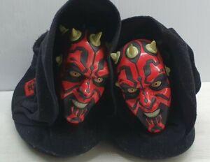 Star Wars Darth Maul novelty slippers M 11-12 child black