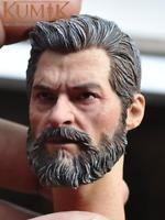 "KUMIK16-54 1/6 Male Head Sculpt Carving Model Logan for 12"" Figure Body Action"