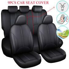 9Pcs Car Auto Seat Cover Full Set Cushions Mat Protector PU Front Rear 5 seats