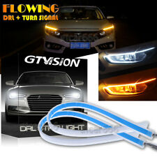 Daul Color 60CM Flexible Switchback LED Knight Rider Strip Light DRL Sequential
