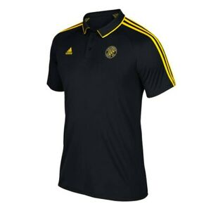 Columbus Crew SC MLS Adidas 2017 Sideline Climalite Black Coaches Polo Shirt