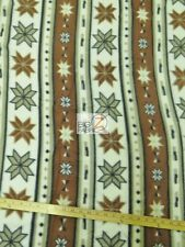 "INDIAN PRINT POLAR FLEECE FABRIC - Tribal Stars - 60"" WIDTH SOLD BY THE YARD 304"