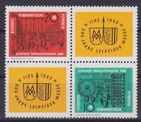 DDR Mi Nr. 1012 - 1013 ** TOP 4er Block, Leipzig Messe 1964, postfrisch, MNH