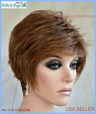 Synthetic Short Hair Wig for Women  Color  Marble Brown CUTE STYLE 1199