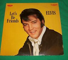 VTG ELVIS PRESLEY 1970 LET'S BE FRIENDS + 1975 SHOW TUNES LP RECORD ALBUM MOVIES