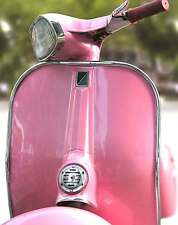 SUPERB RETRO PINK ITALIAN VESPA SCOOTER CANVAS #87 QUALITY FRAMED PICTURE A1