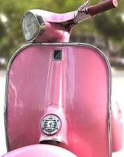 Superba Retrò Rosa ITALIANO Vespa tela #87 qualità Foto Incorniciata A1