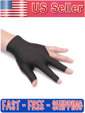 BULLETPROOF Deluxe Black Spandex Pool Billiards Snooker 3 Three Finger Glove