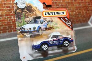 New 1985 Porsche 911 Rally Dakar in white and blue by Matchbox. VHTF & MIB item.