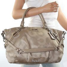 New Coach Madison Sophia Op Art Dotted Shoulder Bag Hand Bag 15957 New RARE