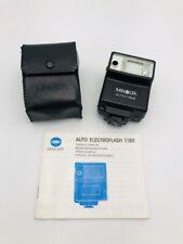 Vintage Minolta Auto Electro Shoe Mount Flash118X for 35mm Camera w/Owner Manual