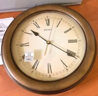 """Seiko Japan quartz 12"""" round wall clock un-used open box QXA 398GL"""