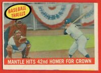 1959 Topps #461 Mickey Mantle VG-VGEX SCRATCHED New York Yankees FREE SHIPPING