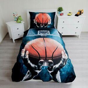 100% Cotton Duvet Cover Pillowcase Set Single Basketball Bedding