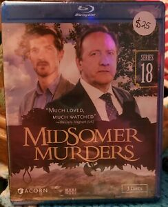 MIDSOMER MURDERS, SERIES 18, 3 DISCS, BLU RAY, NEW IN MANUFACTURING PLASTIC