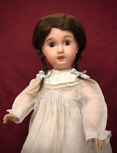 Endearing Antique French Child Doll Limoges Cherie Gorgeous Eyes!