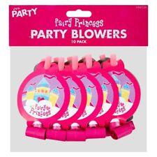 Pack 10 Para Niños Fiesta De Cumpleaños Sopladores Chicas Hada Princesa Fiesta Favor