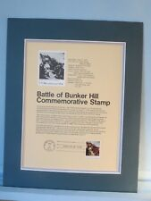 The Battle of Bunker Hill & Commemorative First day Cover Panel of its own stamp