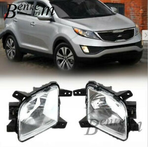 FIT for 2011-2013 Kia Sportage Front fog lamp Drive lamp Driving lights 1set