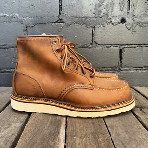 Red Wing Moc Toe Boots Copper Rough & Tough 1907 size 8.5