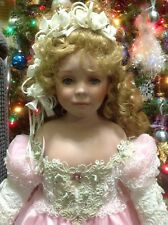 "Donna Rubert RUSTIE 27"" Green Eyes Porcelain Collectible Dolls"