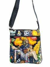 CROSS OVERBODY BAG AZTEC LATINO  PATTERN SHOULDER BAG WITH ADJUSTABLE HANDLE,