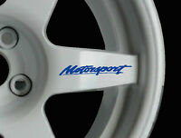 Motorsport 8 x logo decal graphics stickers alloy wheels JDM Not Ford Motorsport