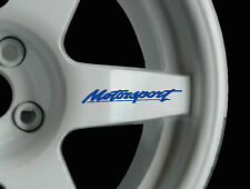 MOTORSPORT 8 x LOGO Decalcomanie Adesivi per Ruote in Lega JDM non Ford Motorsport