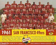 1961 SAN FRANCISCO 49ERS NFL FOOTBALL 8X10 TEAM PHOTO