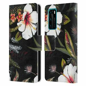 OFFICIAL ANIS ILLUSTRATION FLOWERS LEATHER BOOK CASE FOR HUAWEI PHONES