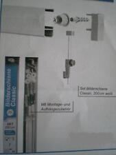 Bilderschienen-Set 200cm/Bilderschiene Classic, weiß incl. Zubehör