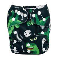 2018 New Baby Pocket Cloth Diaper Nappy Reusable Washable Dinosaur For Boys