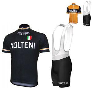 Team Retro Molteni Arcore MOLTENI EDDY MERCKX Vintage Cycling Jersey Bib shorts