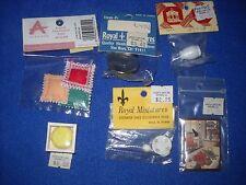 Miniature accessories: cake, cake plate, saucer/cup set, 1:12 scale, Nib, lot #2