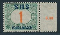 YUGOSLAVIA postage due 1918, Mi. 27 K */MH, inverted overprint!! Very fresh and