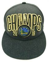 GOLDEN STATE WARRIORS hat 2018 NBA CHAMPIONS gray adjustable snapback cap 9Fifty