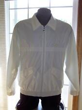 Vintage FILA Nylon WINDBREAKER Jacket Size 42 Made in ITALY Bad Boy Borg WHITE
