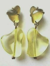 """💥MARNI CRYSTAL CLIP-ON EARRINGS 3"""" tall SIGNED ITALY NEW!!"""