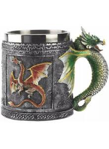 Dragon  Tankard Stainless Steel and Resin Beer Tea Coffee Cup  400ML