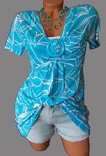 Figurumspielendes Longshirt Shirt-Tunika GR. 52/54 blau/weiß 910665 Neu