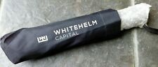 Banking/Finance : Black UMBRELLA with Whitehelm Capital logo - New