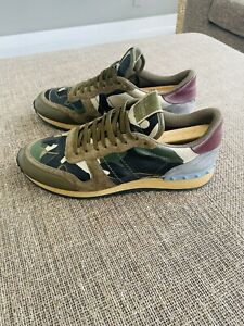 Valentino Sneakers Green Camouflage Size 46 US Size 13 Authentic