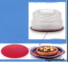 TUPPERWARE Collapsible Cake Taker Holder + Boards SET Special Offer