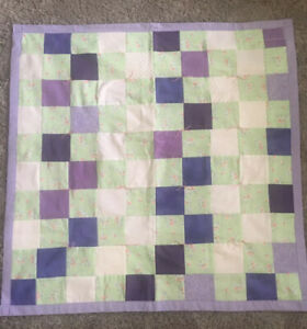 "Handmade Colorful Wall~ Baby Quilt Or Playmat  35""x35"" Patchwork John 3:16 NICE!"
