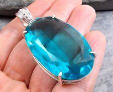 GRANDE 925 Silver BLU QUARZO Ciondolo P263~Silverwave uk Gioielleria